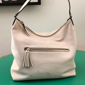 Kate Spade Pale Pink Leather Large Shoulder Bag